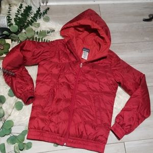 Patagonia quilted puffer jacket red coat XS
